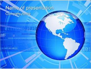 Шаблон презентации PowerPoint: Глобальное соединение