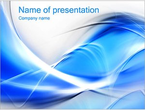 Шаблон презентации PowerPoint: Синие абстрактные волны
