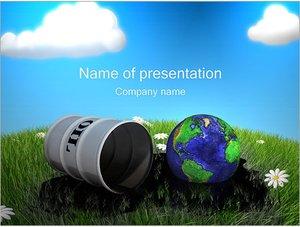 Шаблон презентации PowerPoint: Нефтяное загрязнение