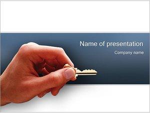 Шаблон презентации PowerPoint: Ключ от квартиры