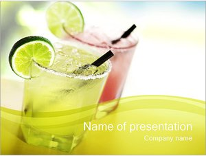 Шаблон презентации PowerPoint: Два коктейли с лаймом