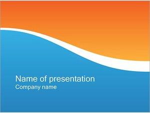 Шаблон презентации PowerPoint: Две волны