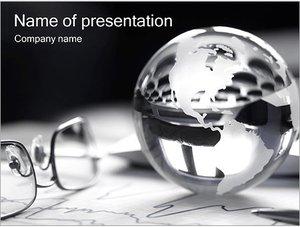 Шаблон презентации PowerPoint: Серебряный земной шар