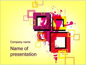 Шаблон презентации PowerPoint: Толстые квадратные рамки
