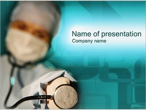 Шаблон презентации PowerPoint: Доктор и стетоскоп