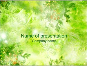 Шаблон презентации PowerPoint: Листья и снежинки