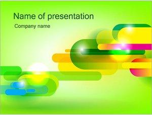 Шаблон презентации PowerPoint: Абстрактные разноцветные капсулы