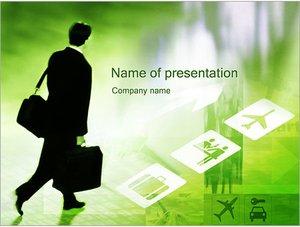 Шаблон презентации PowerPoint: Бизнес командировка