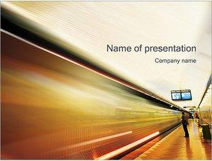 Шаблон презентации PowerPoint: Станция метро
