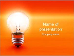 Шаблон презентации PowerPoint: Светящаяся лампа