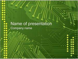 Шаблон презентации PowerPoint: Микросхема