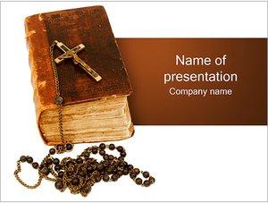 Шаблон презентации PowerPoint: Библия с крестом