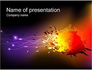 Шаблон презентации PowerPoint: Разноцветный взрыв