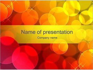 Шаблон презентации PowerPoint: Красные и желтый мыльные пузыри