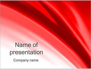 Шаблон презентации PowerPoint: Красная ткань