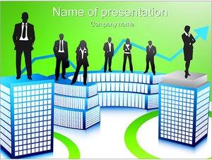Шаблон презентации PowerPoint: Бизнесмены