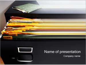 Шаблон презентации PowerPoint: Архив документов