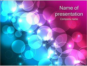 Шаблон презентации PowerPoint: Бирюзовые и фиолетовые пузыри
