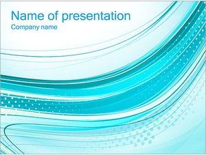 Шаблон презентации PowerPoint: Бирюзовые волны и перфорация