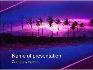 Шаблон презентации PowerPoint: Пальмы на закате