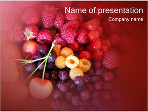 Шаблон презентации PowerPoint: Летние ягоды