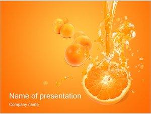 Шаблон презентации PowerPoint: Апельсиновый сок