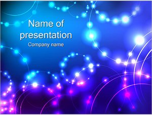 Шаблон презентации PowerPoint: Светящиеся бусины