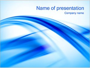 Шаблон презентации PowerPoint: Голубые ленты