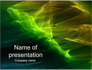 Шаблон презентации PowerPoint: Зеленый ветер