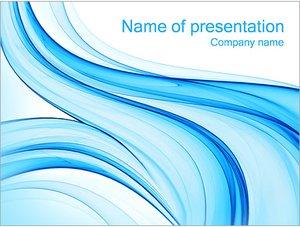 Шаблон презентации PowerPoint: Голубое течение