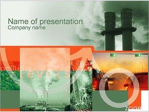 Шаблон презентации PowerPoint: Загрязнение воздуха
