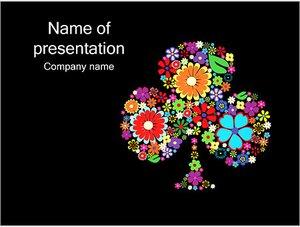 Шаблон презентации PowerPoint: Клумба из цветов