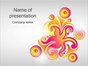 Шаблон презентации PowerPoint: Нарисованное пламя