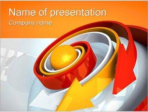 Шаблон презентации PowerPoint: Спиральные стрелки