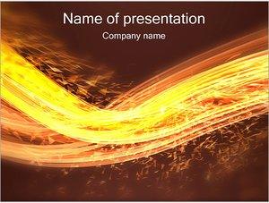 Шаблон презентации PowerPoint: Волна из искр