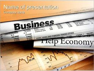 Шаблон презентации PowerPoint: Финансовые новости