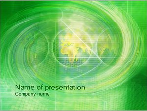 Шаблон презентации PowerPoint: Зеленый водоворот