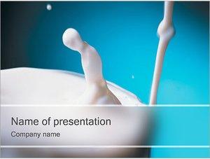 Шаблон презентации PowerPoint: Молоко