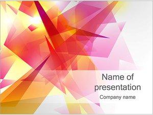 Шаблон презентации PowerPoint: Абстрактные плоские многоугольники