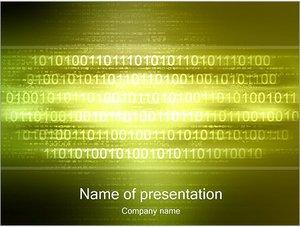 Шаблон презентации PowerPoint: Двоичный код