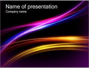 Шаблон презентации PowerPoint: Сияющие линии