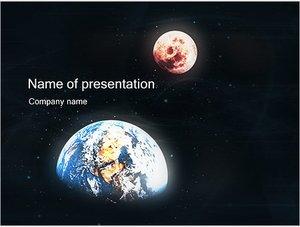 Шаблон презентации PowerPoint: Земля и Марс