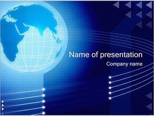 Шаблон презентации PowerPoint: Синий земной шар