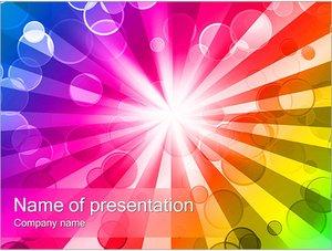 Шаблон презентации PowerPoint: Абстрактный взрыв