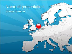 Шаблон презентации PowerPoint: Путешествие в Европу