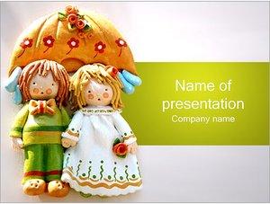 Шаблон презентации PowerPoint: Куклы