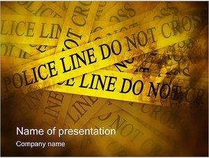 Шаблон презентации PowerPoint: Лента проход запрещен
