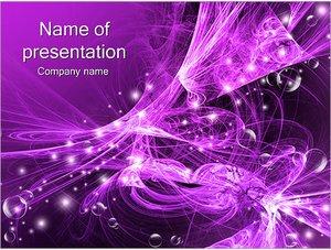 Шаблон презентации PowerPoint: Фиолетовая абстракция