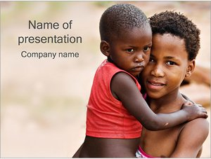 Шаблон презентации PowerPoint: Африканские дети