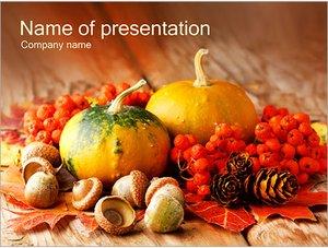 Шаблон презентации PowerPoint: Деревенские овощи и ягоды